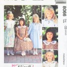 McCall's Sewing Pattern 8066 Girls Size 2-4 Alicyn Dress Sleeve Options Embroidered Collar
