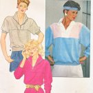Butterick Sewing Pattern 6302 Misses Size 8-12 Pullover Top Front Zipper Neck Closure Sleeve Options