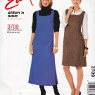 McCall's Sewing Pattern 3709 Misses Size 18-24 Easy Pullover A-Line Jumper