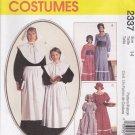 McCall's Sewing Pattern 2337 7230 Girls Size 14 Pilgrim Pioneer Prairie Costumes Dress Bonnet