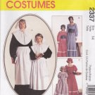 McCall's Sewing Pattern 2337 7230 Girls Size 10-12 Pilgrim Pioneer Prairie Costumes Dress Bonnet