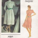 Vogue Sewing Pattern 2717 Misses Size 10 Ralph Lauren American Designer Button Front Dress