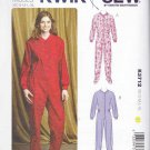 Kwik Sew Sewing Pattern 3712 Misses Sizes 8-22 Footed Sleeper Pajamas 'Long Johns' Snap Front