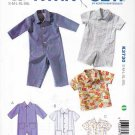 Kwik Sew Sewing Pattern 3730 Babies Sizes S - XXL Baby Overalls Shirt Sleeve Pocket Options