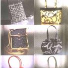 Butterick Sewing Pattern 6371 B6371 Fashion Evening Bags Purses Handbags