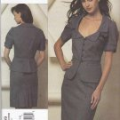 Vogue Sewing Pattern 1169 Misses Size 6-12 Rebecca Taylor Two-Piece Dress Jacket Skirt Suit