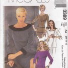 McCall's Sewing Pattern 3389 Misses Size 6-12 Two-Piece Dress Top Skirt