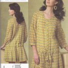 Vogue Sewing Pattern 1177 Misses Size 8-14 Anna Sui Longer Sleeve Dress Slip Tucks Pleats