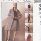 McCall's Sewing Pattern 3506 Misses Size 8-12 Easy Wardrobe Coat Jacket Top Pants Skirt