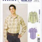 "Kwik Sew Sewing Pattern 3506 K3506 Men's Sizes S-XXL Chest 34-52"" Classic Western Style Shirt"