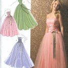 Simplicity Sewing Pattern 3878 Misses Size 4-12 Strapless Fitted Bodice Full Overlay Skirt Dress