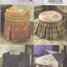 Butterick Sewing Pattern 4566 Footstool Ottoman Tuffet Slipcovers