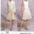 Vogue Sewing Pattern 2791 Misses Size 14-16-18 DKNY Jacket Wrap Skirt