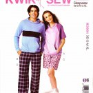 "Kwik Sew Sewing Pattern 3981 Mens Misses Sizes XS-XL (Chest 31 1/2 - 45"") Sleepwear Pants Shorts Top"