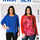 Kwik Sew Sewing Pattern 4146 Women's Plus Sizes 1X-4X (approx. 22W-32W) Pullover Knit Tops