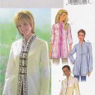 Butterick Sewing Pattern 4075 Misses Size 8-10-12 Easy Button Front Long Sleeve Tunics Tops