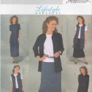 Butterick Sewing Pattern 4142 Misses Size 8-10-12 Easy  Wardrobe Jacket Vest Top Dress Skirt Pants