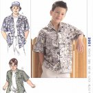 Kwik Sew Sewing Pattern 2951 Boys Sizes XS-XL (4-14) Classic Button Front Camp Shirt Short Sleeves
