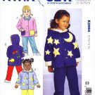 Kwik Sew Sewing Pattern 2994 Toddler Sizes T1 - T4 Button Front Jackets Pants Optional Hood