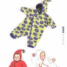 Kwik Sew Sewing Pattern 2995 Baby Sizes XS-XL Hooded Knit Baby Buntings