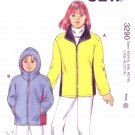 Kwik Sew Sewing Pattern 3290 Girls Sizes 4-14 Zipper Front Hood Option Jacket