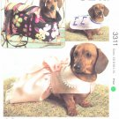 Kwik Sew Sewing Pattern 3311 Sizes XS-XL Pet Dog Dachshund Jacket Dress Carrier