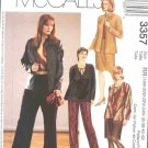 McCall's Sewing Pattern 3357 Womans Plus Size 26W-32W Wardrobe Jacket Top Skirt Pants