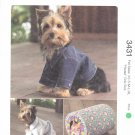 Kwik Sew Sewing Pattern 3431 Size XS-XL Dog Blue Jean Jacket Robe Cat House
