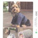 Kwik Sew Sewing Pattern 3431 Size XS-XL Dog Blue Jean Jacket Robe Cat House