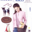 "Kwik Sew Sewing Pattern 3517 Dog Harness Carrier Leash Bed Sizes XS-XL (neck 5 - 12 1/2"")"