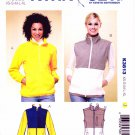 Kwik Sew Sewing Pattern 3813 Misses Sizes XS-XL Knit Zipper Front Jacket Vest