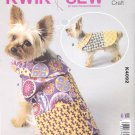 Kwik Sew Sewing Pattern 4092 Sizes XS-XL Dog Patchwork Pet Coats