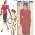 Butterick Sewing Pattern 4374 Misses Size 6-10 Easy Asymetrical Button Top Straight Skirt Suit