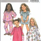Butterick Sewing Pattern 4910 Girls Size 2-5 Easy Pajamas Nightgown Top Shorts Pants Gown