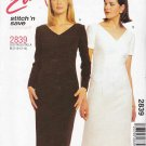 McCall's Sewing Pattern 2839 Misses Size 8-10-12-14 Easy Straight Short Long Sleeve Dress
