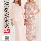 Butterick Sewing Pattern 4423 Misses Size 8-10-12 Easy Pullover Layered Top A-Line Skirt