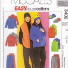 "McCall's Sewing Pattern 3402 Misses Mens Unisex Chest Size 42-48"" Easy Jacket Vest Pants Hat"
