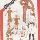 Simplicity Sewing Pattern 5298 Girls Boys Size 2-4 Costumes Lone Ranger Tonto Silver USED