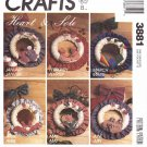 McCall's Sewing Pattern 3881 Crafts Heart and Sole Seasonal Wreaths 12 Designs