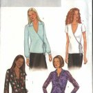 Butterick Sewing Pattern 3967 Misses' Size 18-22 Easy Front Wrap Tops Sleeve Collar Options