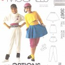 McCall's Sewing Pattern 3967 Girls Size 8-10 Easy Endless Options Skirts Shorts Pants Belt