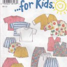 New Look Sewing Patterns 6398 Girls Boys Sizes 2-7 Wardrobe Top Vest Jacket Shorts Pants Skirt