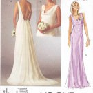 Vogue Sewing Pattern 2965 Bridal Original Misses Size 4-8 Wedding Dress Bridal Gown Formal