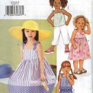 Butterick Sewing Pattern 3477 Girls Size 2-3-4-5 Easy Dress Sundress Top Shorts Pants Suntop