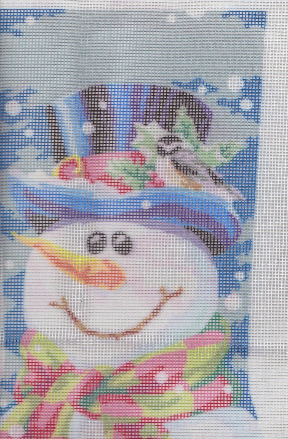 Remarkable Snowman Needlepoint Christmas Stocking Dimensions 9128 14 1 2Quot Easy Diy Christmas Decorations Tissureus