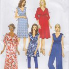 Butterick Sewing Pattern 6226 Misses Size 14-22 Easy Maternity Knit Dresses Tunic Jumpsuit Leggings