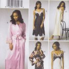 Vogue Sewing Pattern 9015 Misses Size 6-14 Wrap Front Robe Chemise Slip