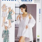 Kwik Sew Sewing Pattern 2325 Misses Size 8-22 Front Wrap Robe Chemise Panties