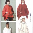 Kwik Sew Sewing Pattern 3305 Misses Sizes XS-XL (approx 6-22) Pullover Hooded Ponchos
