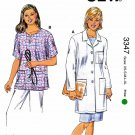 Kwik Sew Sewing Pattern 3347 K3347 Misses Sizes XS-XL (8-22) Lab Coat Scrub Top